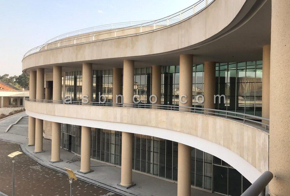 نمونه کار نمای شیشه ای مجموعه فرهنگی طغرل شهر ری