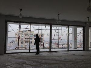 پروژه سیستم درب و پنجره روزن - پنجره های لیفت اسلاید زعفرانیه