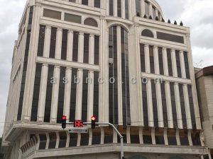 پروژه نمای شیشه ای اداری تجاری خیابان دولت