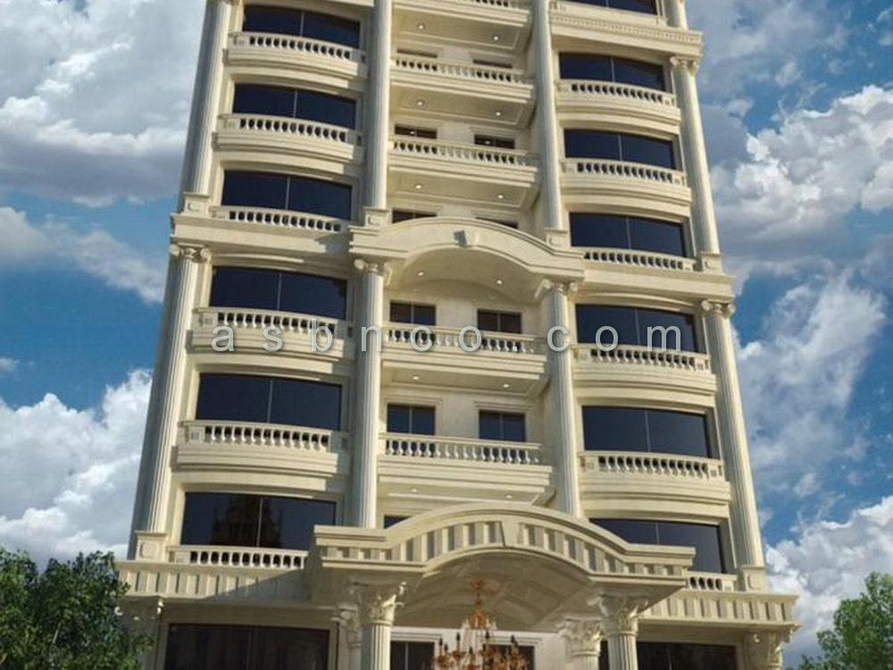 پروژه نمای شیشه ای ثارالله