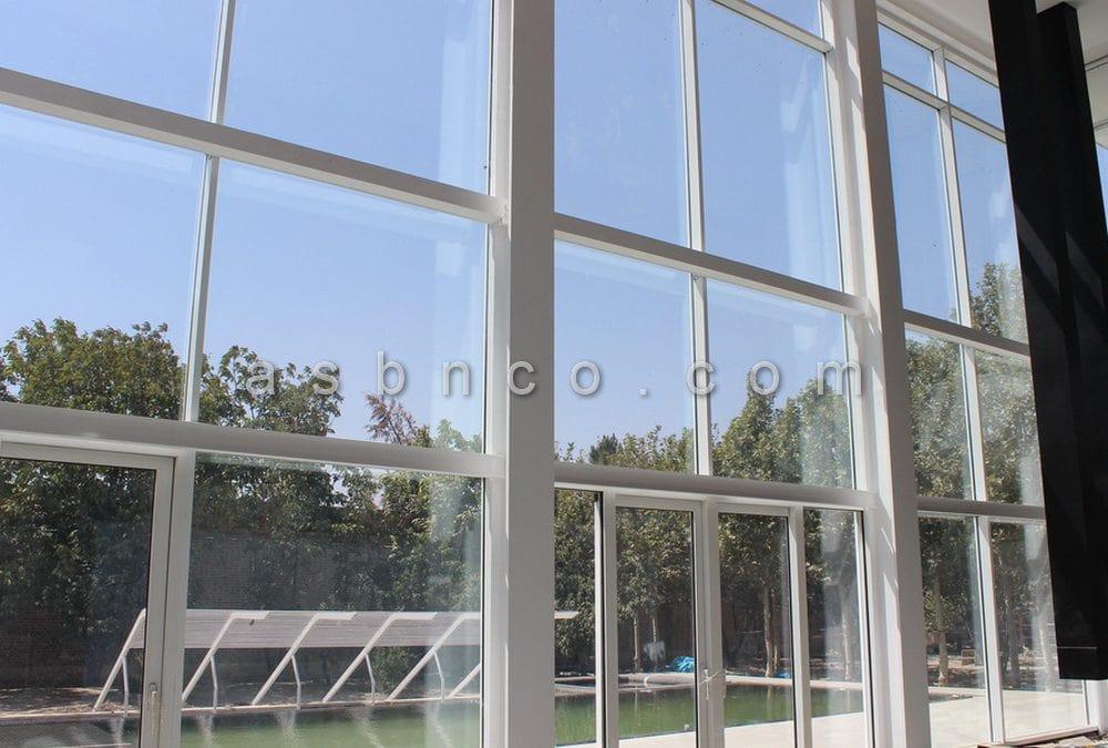 اجرای نمای شیشه ای