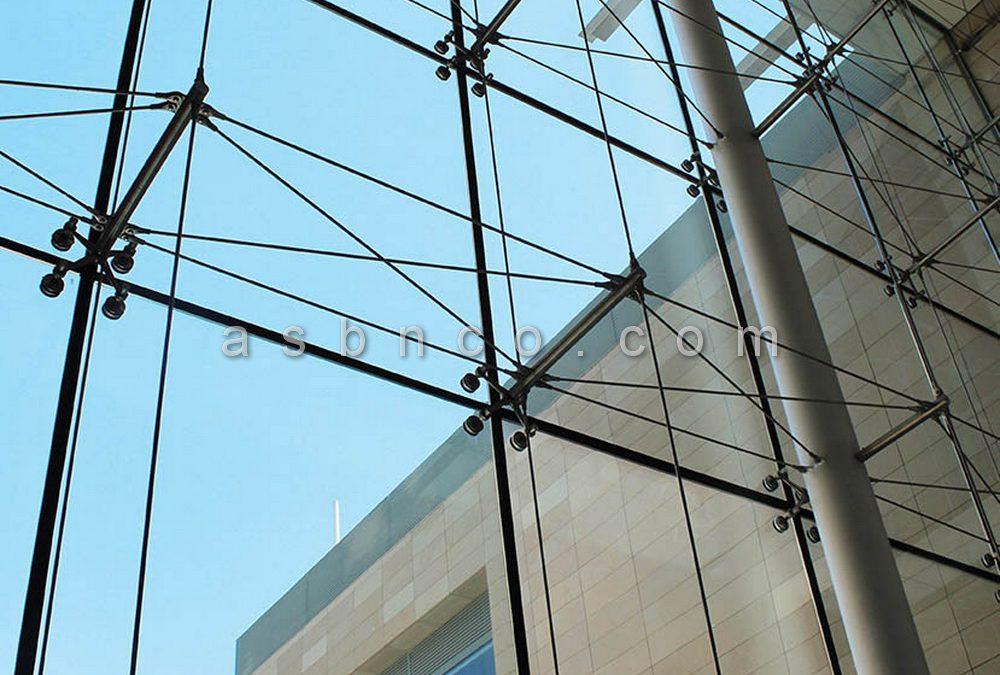 نمای شیشه ای اسپایدر