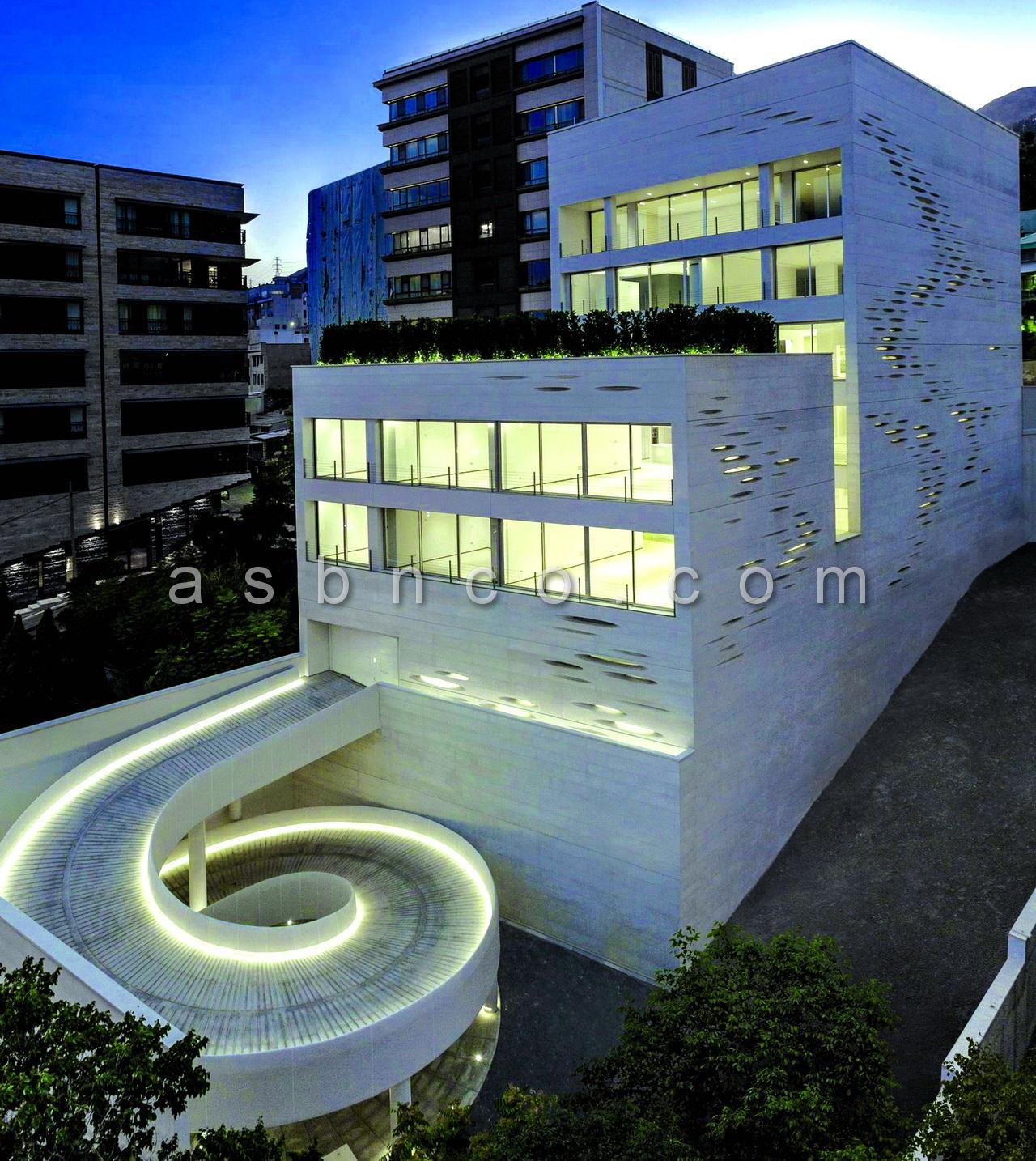 پروژه نمای شیشه ای ساختمان آپارتمانی مسکونی روزن زعفرانیه